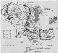 mapa stredozeme